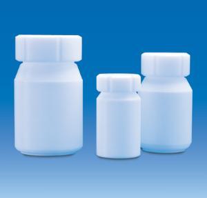 Bottles, wide neck, PTFE, with screw cap