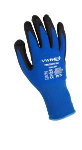 Cut protection gloves, PU coating, blue/black