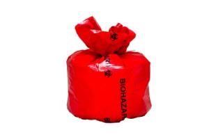 Red BioHazard BinLiner™, irradiated